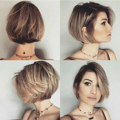 """It can not be repeated enough, bob is one of the most versatile looks ever. We wear with style the French """"bob"""", a classic that gives your appearance a little je-ne-sais-quoi. Here is """"bob"""" Despite its unpretentious… Continue Reading → Easy Short Haircuts, Girl Haircuts, Short Hair Cuts, Bob Haircuts, Pixie Cuts, Short Pixie, Bob Hairstyles For Fine Hair, Layered Bob Hairstyles, Trendy Hairstyles"""