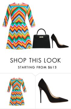 """""""Untitled #21"""" by minimalsimplicity ❤ liked on Polyvore featuring Valentino, Hermès and Jimmy Choo"""
