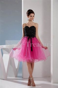 pink and black homecoming dress 2017 » DreaMyDress