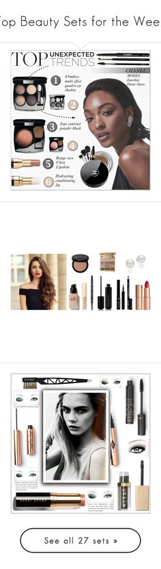"""""""Top Beauty Sets for the Week"""" by polyvore ❤ liked on Polyvore featuring beauty, Chanel, Dunn, e.l.f., Bobbi Brown Cosmetics, Marc Jacobs, Giorgio Armani, Stila, NYX and Charlotte Tilbury"""