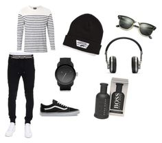 """""""Men's Chill Day"""" by gryffindor-designer ❤ liked on Polyvore featuring Witchery, Balmain, Vans, Diesel, Ray-Ban, HUGO, Master & Dynamic, men's fashion and menswear"""