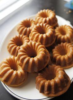 Great idea- donuts baked in mini bundt pans