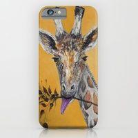 Giraffe In Orange iPhone 6 Slim Case