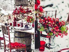 Идеи для зимней свадьбы - Свадебный букет, оформление свадьбы цветами, свадебное украшение зала, свадебные платья с цветами, укр