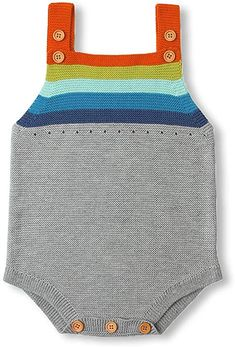 3c6c04b9c77d Amazon.com  MiMiXiong Baby Romper Toddler Knit Jumpsuit Rainbow Sleeveless  Sunsuit (0-6Months