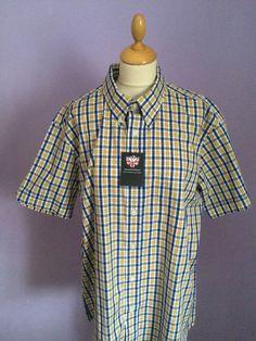 Warrior Clothing Button Down Collar classic check shirt size XL skinhead