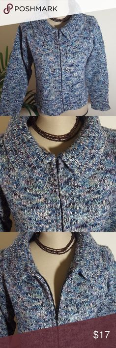 WIND RIVER CARDIGAN💥 Marbled cardigan! Zipper up to closure.  100% acrylic.  Excellent condition. Wind River Sweaters Cardigans