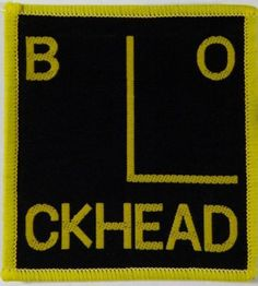 Barney bubbles blockheads patch the blockheads pinterest blockhead logo vintage 70s 80s woven sew on patch ian dury punk solutioingenieria Images