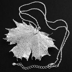 Silver Maple Leaf Halskette Sterling Silber echte von DorotaJewelry