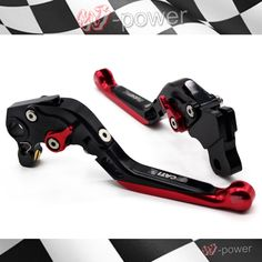 51.14$  Buy now - http://alizay.worldwells.pw/go.php?t=32697319289 - For DUCATI MONSTER 659 696 796 Motorcycle Accessories CNC Billet Aluminum Folding Extendable Brake Clutch Levers
