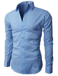 4262fdd2f567 H2H Mens Wrinkle Resistant Slim Fit Dress Long Sleeve Shirts with Various  Colors BEIGE US S