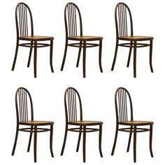 Set of Six Thonet Chairs No. 644 Designed by Josef Hoffmann | From a unique collection of antique and modern chairs at https://www.1stdibs.com/furniture/seating/chairs/