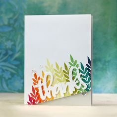Concord & 9th-Give Thanks - Laura Bassen - Just use one stamp with repeated stamping to make a card!!