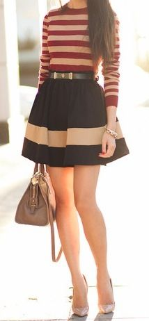 Stripes! Love this outfit!
