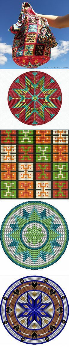Сумки Вайуу - колумбийские mochilla. Фото, схемы, видео.: