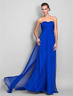 Sheath/Column Sweetheart Floor-length Chiffon Evening Dress ... – CAD $ 177.24