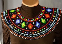 Beaded NECKLACE, Seed bead necklace, choker,  Gerdan, Beaded collar, Jewelry, collar, native
