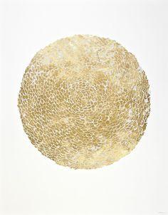 Despertar | Tinta blanca sobre hojilla de oro | Camilo Villegas | Flickr