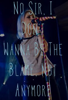 A Paramore That's What You Get Edit I Made. If you repin this, give me credits!!