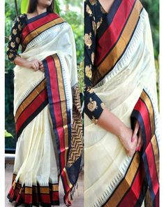 Buy Shree Ram Pretty Poly Silk White Partywear Saree at happydeal18.com, India's biggest shopping store