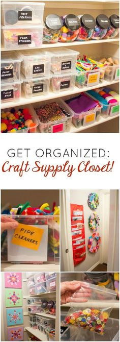 Love this organized craft supply closet!!