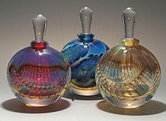 Silver Perfume Bottles by Robert Burch: Art Glass Perfume Bottles available at www.artfulhome.com