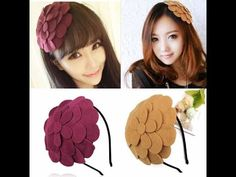 ที่คาดผมดอกไม้ใหญ่หรูหราแฟชั่นเกาหลีหน้าหนาวนำเข้าพร้อมส่งW019