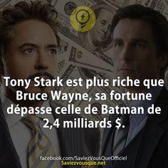 Tony Stark, Geeks, Batman, Marvel Avengers, Marvel Universe, Did You Know, Iron Man, Dc Comics, Affirmations