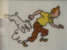 grille point de croix tintin et milou Cross Stitch Embroidery, Cross Stitch Patterns, Perler Beads, Pixel Art, Baby Birth, Latina, Crochet, Charts, Hobbies