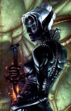 drow rogue swordsage | Flickr - Photo Sharing! Elf Characters, Fantasy Characters, Fantasy Images, Dark Fantasy Art, Supernatural Theme, Dungeons And Dragons Game, Female Elf, Forgotten Realms, Dark Elf