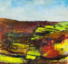 Kurt Jackson: Bosigran from Porthmeor 2012 Campden Gallery, fine art, Chipping Campden, camden gallery, contemporary, contemporary arts, con...
