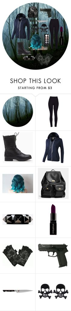 """""""a walk in the slender woods"""" by winternightfrostbite ❤ liked on Polyvore featuring Mode, LE3NO, Coach, Valentino, Smashbox, J.A. Henckels, Witchery, women's clothing, women und female"""