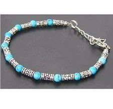 New in Tibet style Tibetan silver charming turquoise beads bracelet