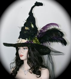 Witches Ball Handmade Exquisite Witch Hat Purple by StudioSisu, $155.00    WAHH I WANT IT!! *stomp stomp*