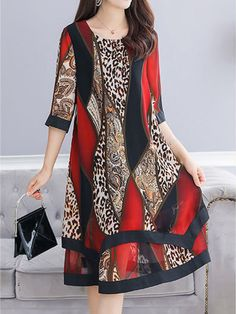Abstract Printed Early Autumn Loose Dress Shift Dress Find latest women's clothing, dresses, tops, outerwear, and other fashion clothing and enjoy the worldwide shipping # Shift Dresses, Plus Dresses, Modest Dresses, Casual Dresses, Fashion Dresses, Cheap Dresses, Maxi Dresses, Dress Outfits, Elegant Maxi Dress