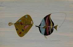 Flounder and Angel Fish is limited edition serigraph signed by Charley Harper. The serigraph dimensions are x for paper and x for the image. Charley Harper, Betta, Aquarium, Angel Fish, Sea Fish, Fish Art, Modern Art, Original Paintings, Acrylic Paintings