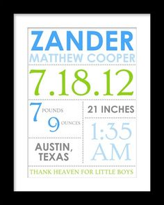 Framed personalized baby stats the elyn by lifeslittlestats baby baby stats by little moments design studio negle Image collections