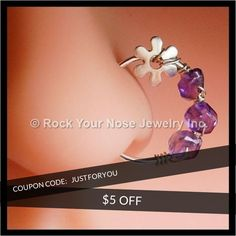 We are happy to announce $5 OFF on our Entire Store. Coupon Code: JUSTFORYOU.  Minimum purchase: N/A.  Expiry: 7-Sep-2016.  Click here to get the coupon: http://www.rockyournose.com/products?utm_source=Pinterest&utm_medium=Orangetwig_Marketing&utm_campaign=Coupon%20Code