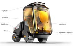 Trans Pro Cx Vehicle by Zihao Wang - The Trans Pro CX features an innovative interiors solution for the one fixed seat cabin in vehicles. Read more at http://www.yankodesign.com/2014/06/06/sweet-buggy-for-two/#bO820EHrX5AkkcEE.99
