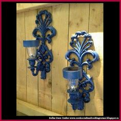 Dollar Store Crafter: Turn Indoor Light Sconces Into Outdoor Solar Ones