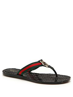 8db483469792 Gucci - Web Strap Thong Sandals