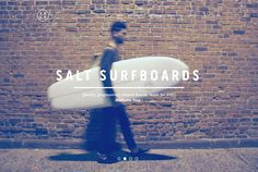 Lovely web design for those that love surfing and skating Photo Splash, Great Websites, Painted Boards, Big Picture, East Coast, Looks Great, Surfing, Salt, Web Design