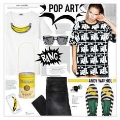 """""""I Shot Andy Warhol"""" by houseofhauteness ❤ liked on Polyvore featuring BOY London, Sonia by Sonia Rykiel, Chictopia, CellPowerCases, Blue Bird, Anja, Ksubi, Delfina Delettrez, Andy Warhol and blackandwhite"""