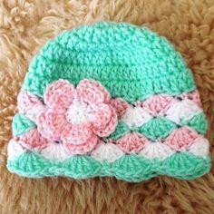 Crochet Baby Beanie. More
