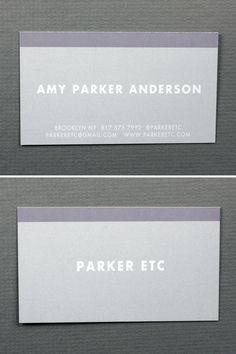 Parker Etc / Amy Parker Anderson  www.parkeretc.com Unique Business Cards, Card Making, Card Holder, Design, Rolodex, Handmade Cards, Cards To Make, Letter Crafts