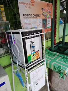 Coin-Voucher Operated Wifi Vending Machine (negrospisowifi) on Pinterest