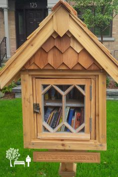 A beautifully handcrafted Little Free Library book exchange stewarded by Jeremy M. in Ottawa, Ontario Canada.