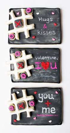Worth Pinning: Chalkboard Tic Tac Toe Cookies for Valentine's