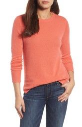 Halogen® Crewneck Cashmere Sweater (Regular & Petite) available at #Nordstrom