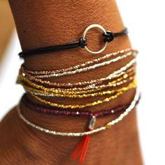 Rose gold triple wrap bracelet | BijouxBar by Vivien Frank